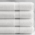 Four White Bath towels