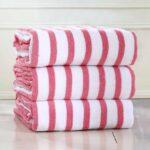 stripe-cotton-hot-pink-beach-pool-towel1
